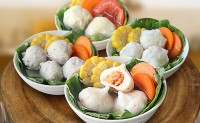 【厦门特色锦和甲纯手工鱼丸】肉丸蟹籽丸墨鱼丸 只做给自己家人每天吃的手工丸子!